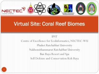 Virtual Site: Coral Reef Biomes