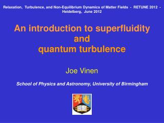 An introduction to superfluidity