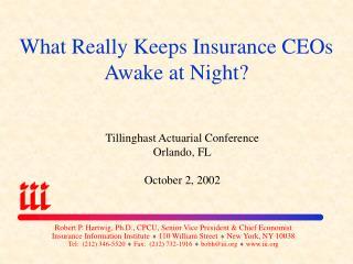 What Really Keeps Insurance CEOs Awake at Night?