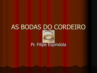 AS BODAS DO CORDEIRO