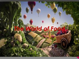 Foods in the world ,