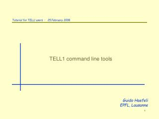 TELL1 command line tools