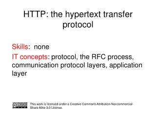 HTTP: the hypertext transfer protocol