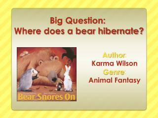 Big Question:  Where does a bear hibernate?