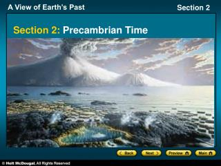 Section 2:  Precambrian Time