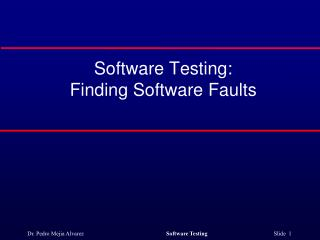 Software Testing:  Finding Software Faults