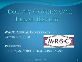 County Governance Legal Review