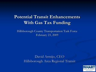 David Armijo, CEO  Hillsborough Area Regional Transit