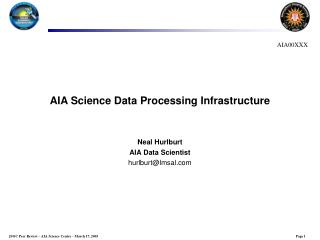 AIA Science Data Processing Infrastructure