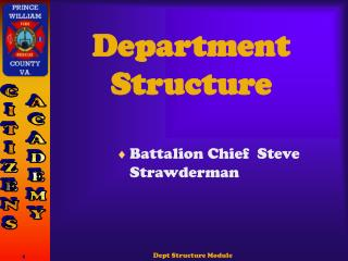 Department Structure
