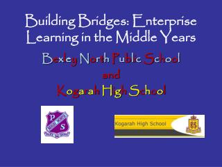 Building Bridges: Enterprise Learning in the Middle Years
