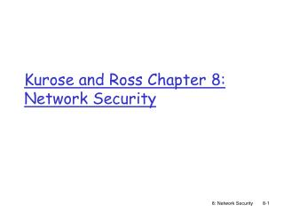 Kurose and Ross Chapter 8: Network Security