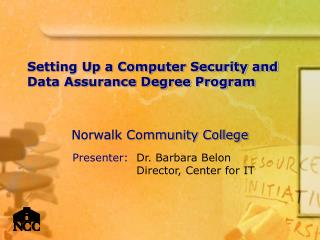 Setting Up a Computer Security and Data Assurance Degree Program