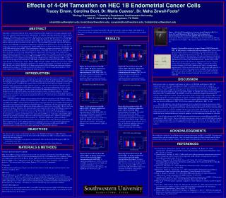 Effects of 4-OH Tamoxifen on HEC 1B Endometrial Cancer Cells