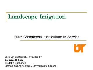 Landscape Irrigation