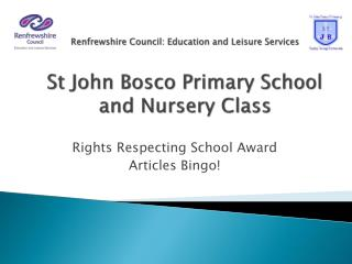 Rights Respecting School Award Articles Bingo!