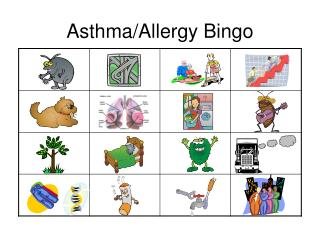 Asthma/Allergy Bingo