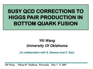 SUSY QCD CORRECTIONS TO HIGGS PAIR PRODUCTION IN BOTTOM QUARK FUSION