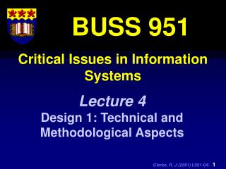 Critical Issues in Information Systems