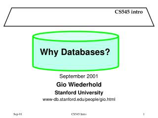 Why Databases?
