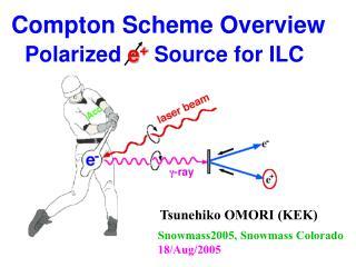 Compton Scheme Overview Polarized  e +  Source for ILC