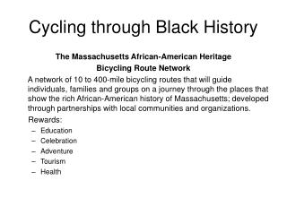 Cycling through Black History