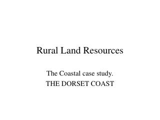 Rural Land Resources