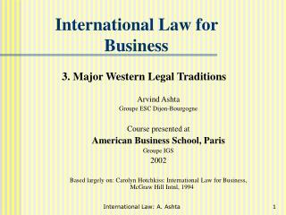 International Law for Business