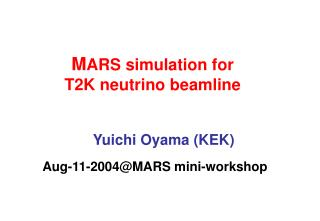 M ARS simulation for T2K neutrino beamline