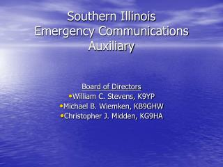 Southern Illinois Emergency Communications Auxiliary