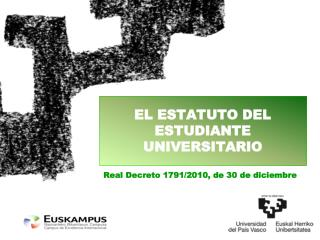EL ESTATUTO DEL ESTUDIANTE UNIVERSITARIO