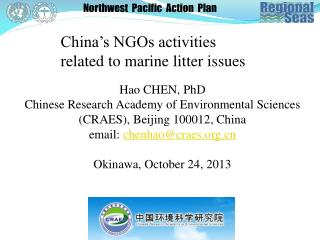 China's NGOs activities related to marine litter issues