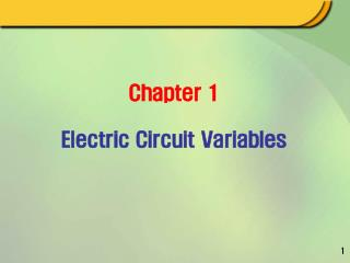 Chapter 1 Electric Circuit Variables