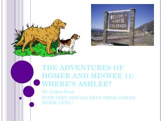 THE ADVENTURES OF HOMER AND MINWEE 10: WHERE'S ASHLEE ? !