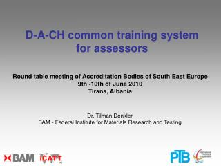 Round table meeting of Accreditation Bodies of South East Europe 9th -10th of June 2010