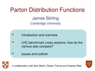 Parton Distribution Functions