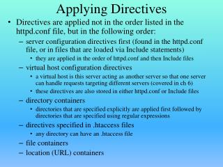 Applying Directives