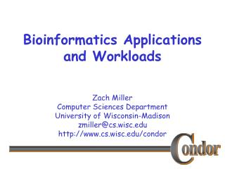 Bioinformatics Applications and Workloads