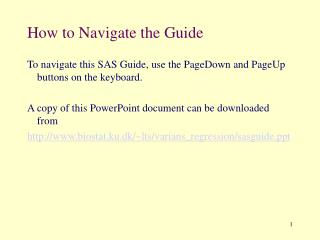 How to Navigate the Guide