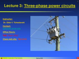 Lecture 3:  Three-phase power circuits