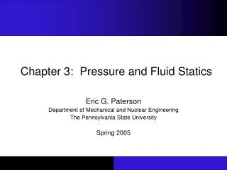 Chapter 3:  Pressure and Fluid Statics