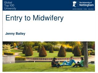 Entry to Midwifery