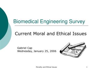 Biomedical Engineering Survey