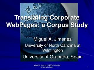 Translating Corporate WebPages: a Corpus Study