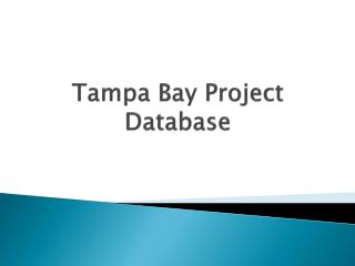 Tampa Bay Project Database