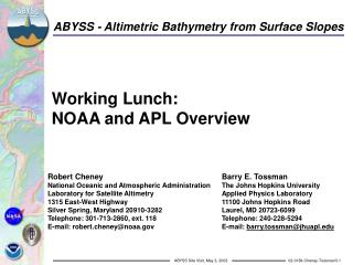 Working Lunch: NOAA and APL Overview