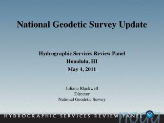 National Geodetic Survey Update