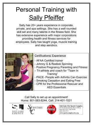Personal Training with Sally Pfeiffer
