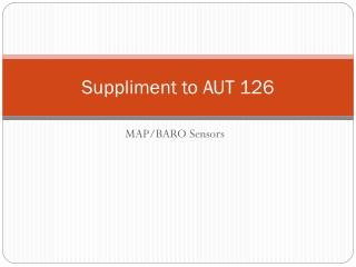 Suppliment to AUT 126