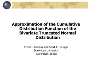 Notational Conventions – Bivariate Normal
